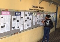 Jornal Mural é produzido por alunos de escola pública em Alegre