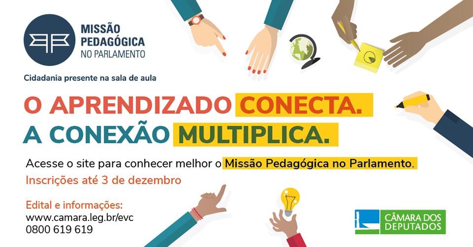 SEDU - Câmara abre inscrições para o programa Missão Pedagógica no ... 9cbe177ae6608